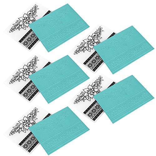 Prägeordner, 5er-Set Rechteck-Scrapbooking-Prägeordner, Kartenherstellung für Papierpräge-Scrapbooking-Papierhandwerk