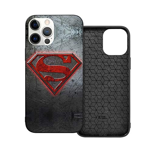 VOROY Superhero Logo A-P-P-L-E - Carcasa para iPhone 12, color negro