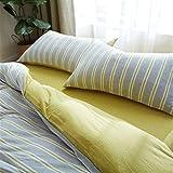 ZCCYMX Geschlitzte Bedspread Baumwolle akt Schlaf Bettwäsche Vier Sätze von einfachen Streifen...