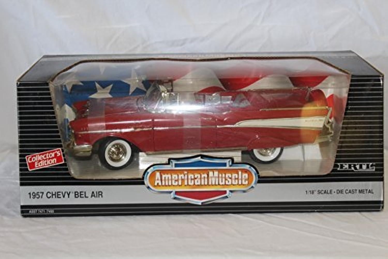 hermoso Ertl American Muscle Matador rojo 1957 Chevy Bel Bel Bel Air Converdeible Die Cast Model 1 18 Scale by ERTL  venta