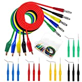 20Pcs Back Probe Kit Identified Automotive Back Probe Lead Set, 15Pcs 30V Back Probe Pins & 5Pcs 4mm Banana Plug to Alligator Clip Circuit Test Wires