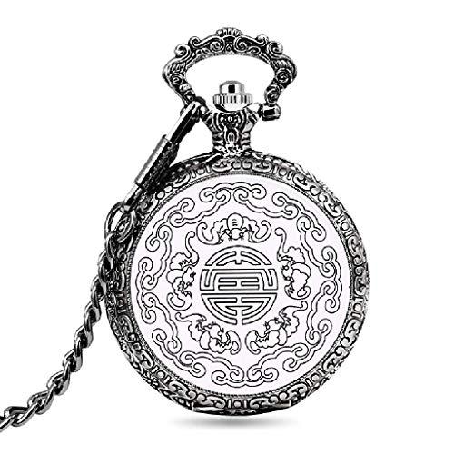 XLL-lele Klassische Quarz Flip Taschenuhr Herren und Damenmode Wanduhr Halskette Uhr Gentleman Chinese Style Geschenk Souvenir