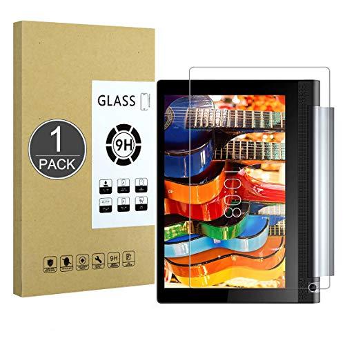 E-Hamii Lenovo Yoga Tab 3 Plus 10.1 Protector de Pantalla, 0.26mm HD Anti-Scratch y Anti-huella digital Proteger la película, 9H Vidrio templado Cubierta protectora, Mejor protección