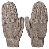 Darller Women Winter Touch Screen Gloves Knit Texting Gloves Touchscreen Mittens,Black,one Size