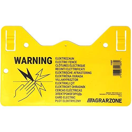Agrarzone Warnschild Vorsicht Elektrozaun!