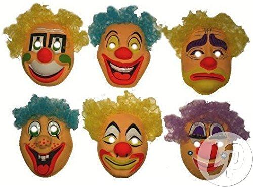Fiesta Palace - masque coque de clown pour enfant mix