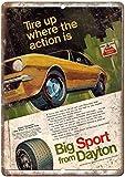 not Big Sport Dayton Pneus Métal en tôle de la peinture de la décoration Populaire de la Peinture de Fer Poster Pour le bar café, salle à manger de la maison club