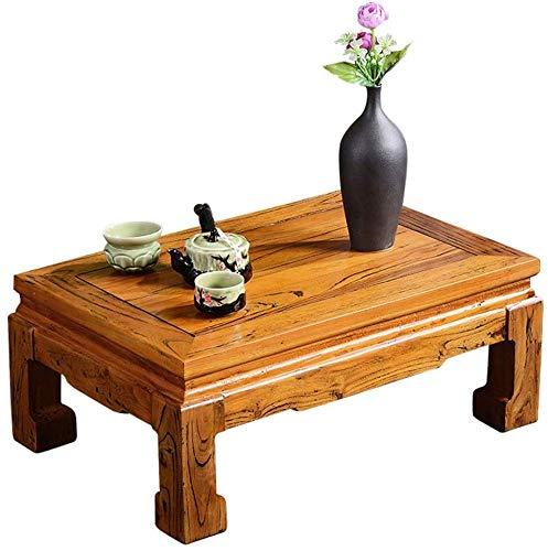 Carl Artbay Selected Furniture/venster voor het balkon, bruin, tafel Bay Initialen van massief hout, eenvoudige studio, laag blad, tatami-tafel, go salontafel, antiek
