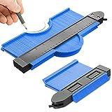 Medidor de contorno con bloqueo, 2 piezas, herramientas de medición para el hogar, 250 mm/130 mm, herramienta de marcado de contorno, con mecanismo de bloqueo, medición precisa, regalo para papá