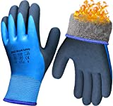 DIO Winter Waterproof Work Gloves, Superior Grip Coating Insulated Liner Warm Thermal for Men Outdoor Garden Cold Weather Multi-Purpose