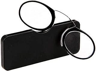 PANGHU Magnete pieghevole occhiali da lettura con cinghia regolabile donna Montatura leggera da appendere al collo lati e magnetico anteriore uomo