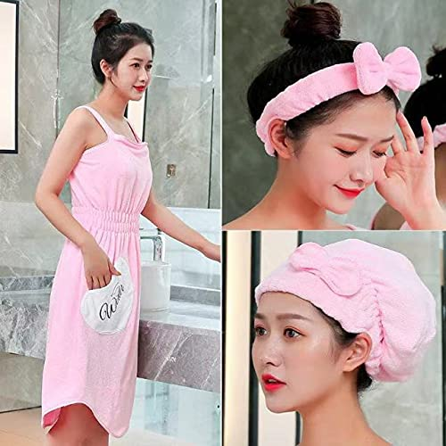IAMZHL Albornoz para Mujer Toalla de baño usable Toallas de Fibra extrafina Toalla Elegante Suave y Absorbente para el baño del Hotel de otoño en casa-a61-L