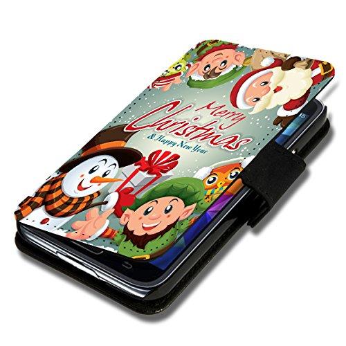 Book Style Flip Handy Tasche Hülle Schutz Hülle Schale Motiv Etui für Wiko Wax - Flip X14 Design11