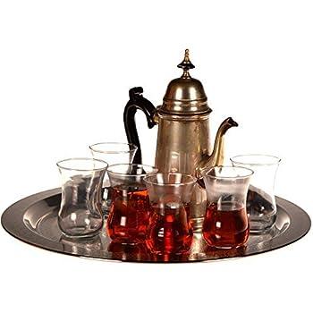 Asia 6-er Teeservice 24 Teilig Osmanischer ArtGold Teegläser-Set  Teegläser T