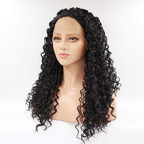 Perruque de cheveux synthétiques Femmes perruque petit volume perruque haute température de fil demi semi-manuelle machine perruque Set Perruque avant en dentelle style icône
