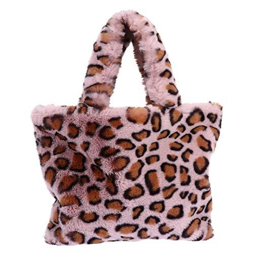 VALICLUD Bolso Bandolera con Asa Superior con Cadena Bolso de Piel Sintética Bolso de Mano con Estampado de Leopardo para Mujer