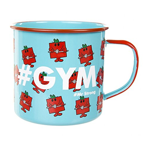 Gift Republic Mr Men & Little Miss #Gym Mug, Enamel, Blue, 10 x 13 x 9 cm
