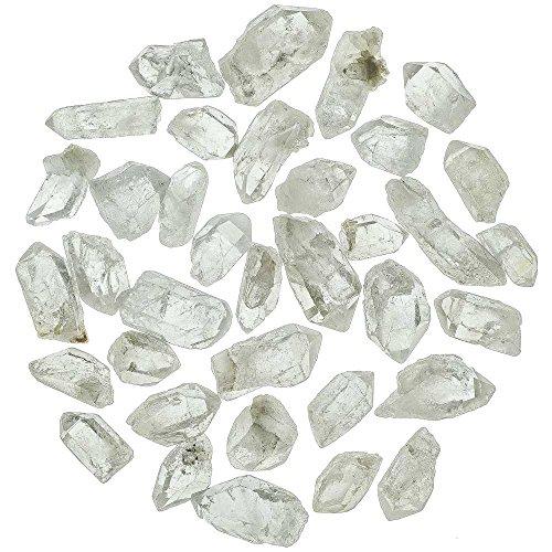 Naturosphère - Minéraux et fossiles C25 - Pierres brutes Pointes de Cristal de Roche - 2 à 4 cm - 100 grammes