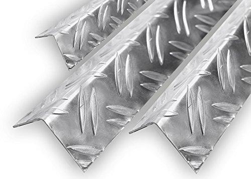 Aluminium Warzenblech Duett Winkel Riffelblech Aluwinkel Kantenschutz 1,5/2mm 40x20x1,5mm 1000mm