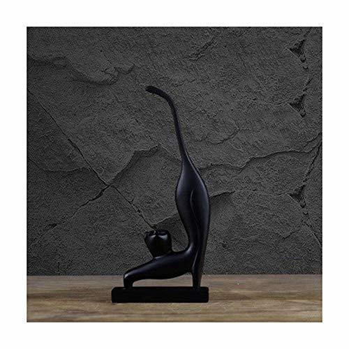 15 / 25cm Resin Gelukkige Kat Beeldje, Vintage Standbeeld Home Decor Ambachten Kamer Decoratie Voorwerpen Elegant Kat Hars Beeldjes 1pcs (Color : A)