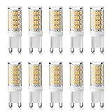Ascher 10er Pack G9 LED Lampe,3W G9 LED Birnen,Kein Flackern, Ersatz für 35W Halogen Lampen, 380LM,Warmweiß,360° Abstrahlwinkel