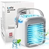 LaoTzi Portable Air Conditioner, Rechargeable Evaporative Air Conditioner Fan with 3 Speeds 7 Colors, Cordless Personal Air Cooler with Handle for Home