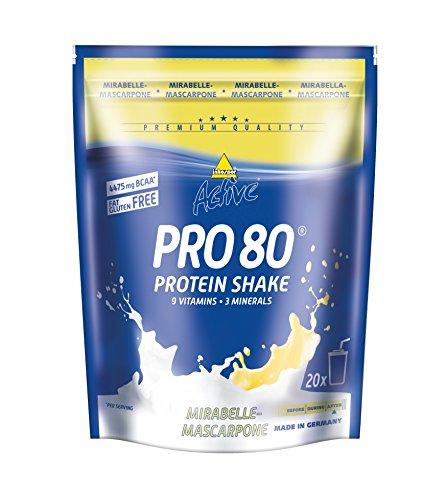 Inkospor Active Pro 80 Protein Shake, Mirabelle-Mascarpone, 500g Beutel