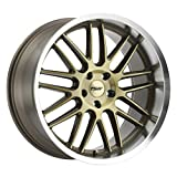 TSW AVALON Custom Wheel - 20' x 10', 40 Offset, 5x114.3 Bolt Pattern, 76.1mm Hub - Bronze with Brushed Face and Machined Lip