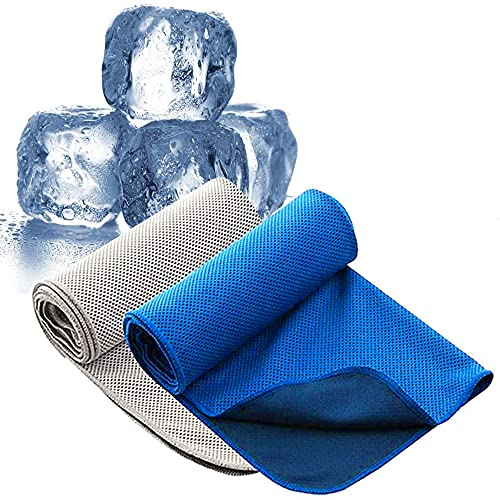 ZeeDa Cooling Towel Pack of Two Ice Towel Soft Breathable Chilly Towel Microfiber Towel for Yoga Sport Running Gym Workout,Camping, Fitness