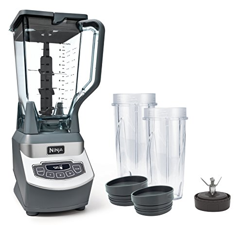 Ninja Professional Countertop Blender with 1100-Watt Base, 72 Oz Total Crushing Pitcher and (2) 16 Oz Cups for Frozen Drinks and Smoothies (BL660), Gray