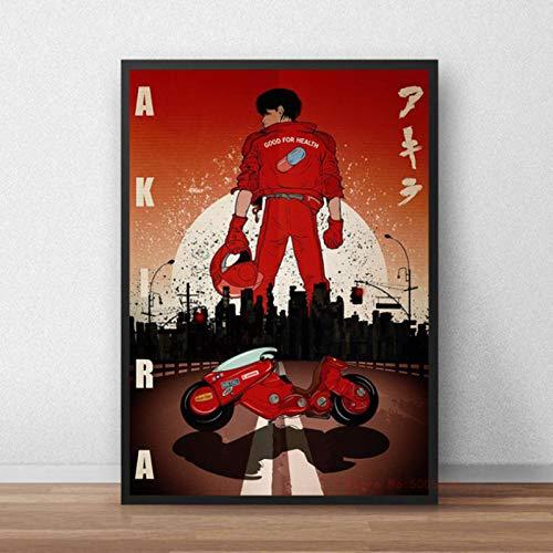 shuimanjinshan Póster de Akira, Lienzo de Anime japonés clásico, Pintura artística, Cuadros de Pared para la decoración del hogar de la Sala de Estar 40x50cm Sin Marco P-247