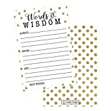 50 Gold Dot Words of Wisdom Advice Cards, Use As Graduation Advice Cards, Marriage or Wedding Advice Cards, Guest Book Alternative, Bridal or Baby Shower Party Games, Boy or Girl Baby Predictions