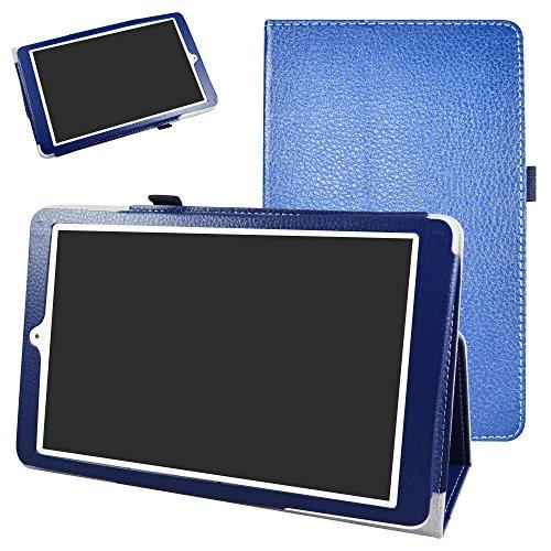 Mama Mouth Alcatel Onetouch PIXI 3 (10) Funda, Slim PU Cuero con Soporte Funda Caso Case para 10.1' Alcatel One Touch Pixi3 10 Android Tablet,Azul Oscuro