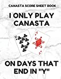 Canasta Score Sheet Book: Scorebook of 100 Score Sheet Pages For Canasta Games (Includes both American and Classic Rules), 8.5 By 11 Inches, Funny Days White Cover