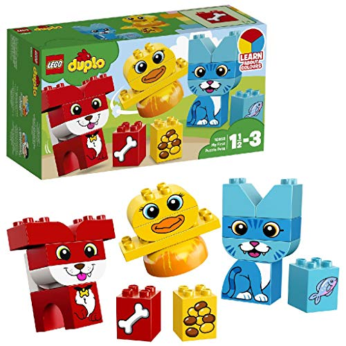 LEGO DUPLO - Primer Puzzle de Mascotas, Juguete Preescolar Creativo de...