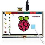 ELECROW 5 Inch Raspberry Pi Screen Touchscreen 800x480 TFT LCD Display HDMI Interface for Raspberry Pi 4B 3B+ 3B 2B+ BB Black Banana Pi Windows 10 8 7