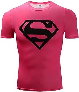 HOOLAZA Justice League Men Compression T-Shirt Superman Tops Fitness