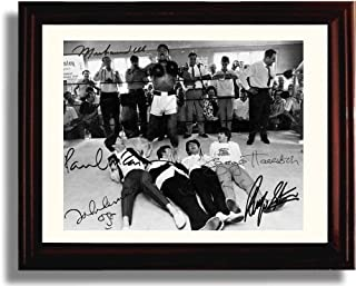Framed The Beatles and Muhammad Ali Autograph Replica Print
