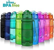 ZORRI Trinkflasche Sport 1L, 700ml, 500ml, 400ml BPA-Frei Wasserflasche Kohlensäure Geeignet Auslaufsicher, Eco...