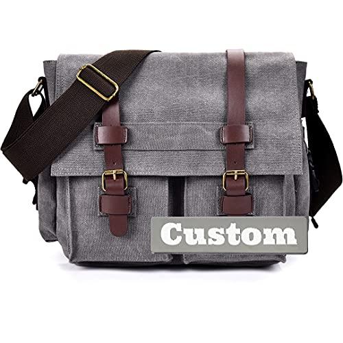 FireH Nombre Personalizado Hombres Messenger Bag Backpack Hombro para Hombres para Hombres para Viajes Crossbody Messenger (Color : Grey, Size : One Size)