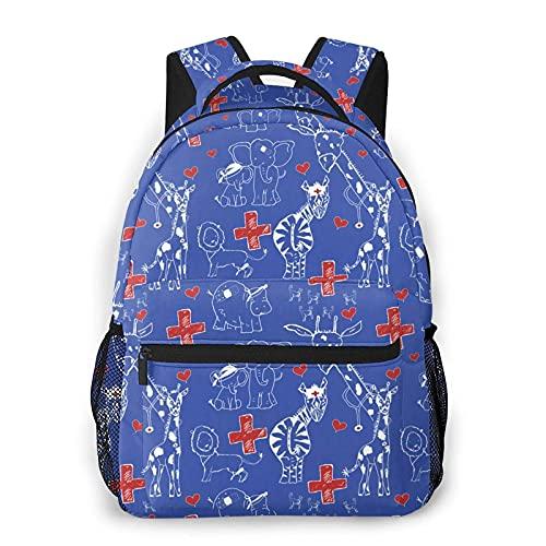 Jupsero Mochila para hombres y mujeres, mochila informal para animales, mochila escolar para viajes, mochila Bookbag