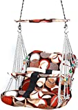 RYLAN Cotton Swing for Kids Baby's Children Folding and Washable 1-8 Years with Safety Belt Home Garden Jhula for Babies for Indoor Outdoor, Baby Hanging Swing Jula (Multi)