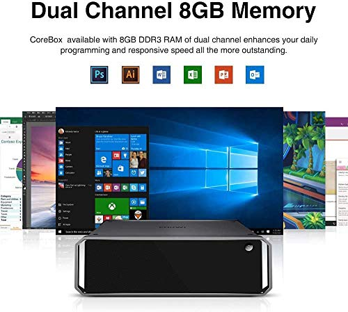 CHUWI CoreBox Mini PC Windows 10,Intel Core i5-5257U Mini Desktop pc, 8GB DDR3 256GB SSD,Expandable 2TB 2.5 Pollici HDD, 2.4GHz/5GHz Dual WiFi / 4K Decodifica /BT4.2
