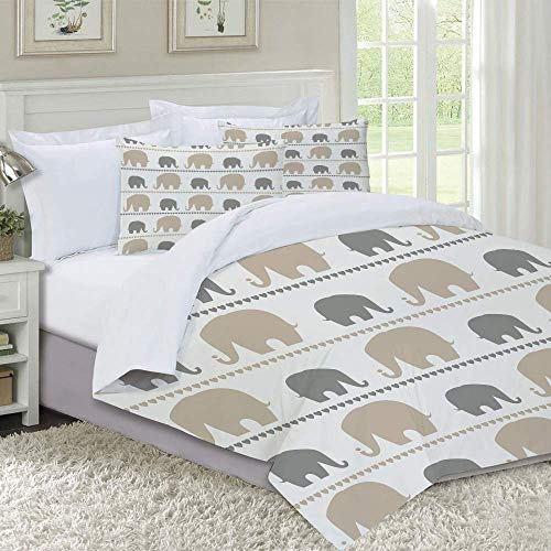 MISLD Duvet Cover Set-Bedding,Plain Colored Geometrical Pattern with The Composition of Symmetrical Circles Digital Print,for Single Double King Bed/Made of Ultra-Soft Microfiber (Color : A05)