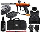 Action Village Kingman Spyder Victor Protector Paintball Gun Package Kit Protector 2 (Gloss Orange, Glove Size - Small/Medium)