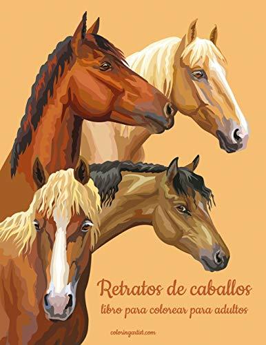 Retratos de caballos libro para colorear para adultos: 1