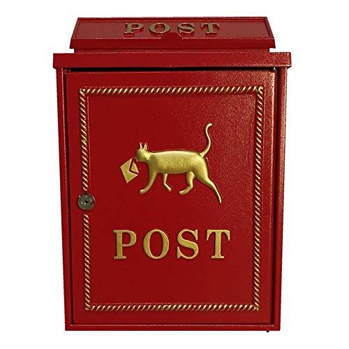 AWJ Mailbox zur Wandmontage, Mailbox zum Verschließen Home Wasserdichter Diebstahlschutz Großer Briefkasten Express Mail Zeitungspostfach für Familien und Unternehmen, 43 x 24 x 52 cm