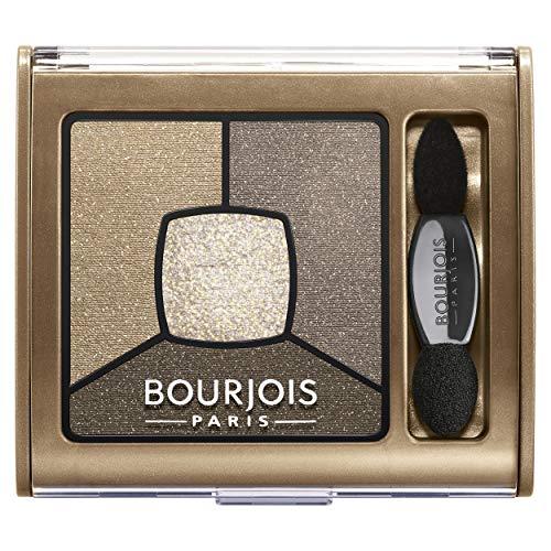 Bourjois - Ombre à paupières - Smoky Stories - Palette de 4 teintes - Texture crème poudre - Smoky eye longue tenue - 06 Upside Brown 3,2 g