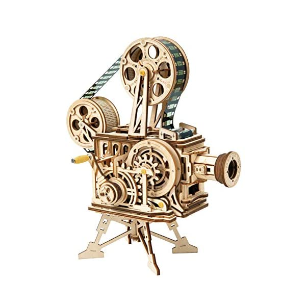 Rowood 3D Wooden Puzzle Toy for Adults, Handheld Film Projector Craft Kit –...