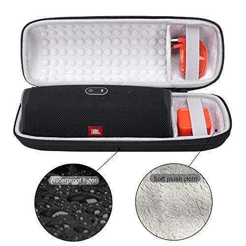 Schutzhülle Tasche für JBL Charge 4, Hart Reise Schutz Hülle Premium Tragetasche Travel Cover Case für JBL Charge 4-Wasserdichter Bluetooth Lautsprecher - Passend für Zubehör (Schwarz)